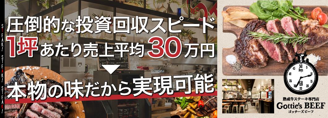 熟成牛ステーキ専門店「ゴッチーズビーフ」のビジネスイメージ