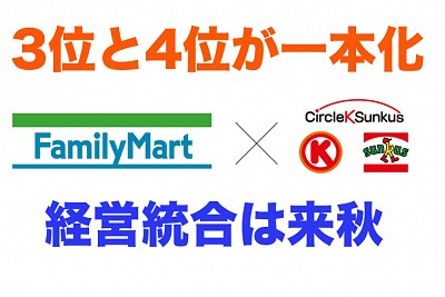 ファミリーマートとサークルKサンクスが経営統合