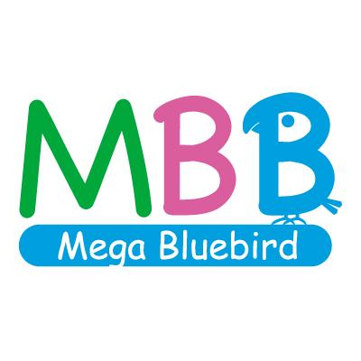 メガブルーバード英会話のロゴ